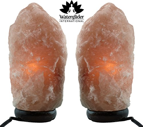 UPC 853049007017, Himalayan Salt Lamp WITH DIMMER- 2 PACK SET- multiple sizes (7-9 inches)