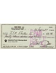 BOB ROSS (PBS artist) signed bank check