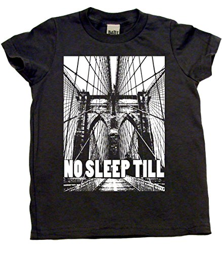 Baby Wit No Sleep Till Brooklyn Cotton Toddler T-shirt, 2T, Light Grey (T-shirt Witte)