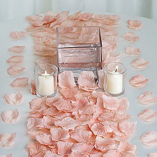 BalsaCircle 4000 Dusty Rose Silk Artificial Rose Petals Wedding Ceremony Flower Scatter Tables Decorations Bulk Supplies Wholesale