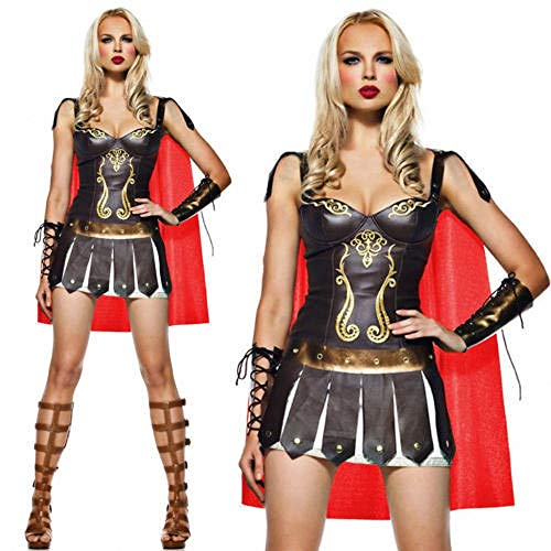 Halloween Costumes for Women,The Gladiator Warrior Costume of Ancient Rome Adult Party Cosplay Costume Dress -