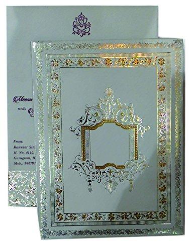 Mahaveer Doli And Golden Border Design Design Wedding Invitation