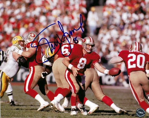 Steve Young Autographed Football - AUTOGRAPHED Steve Young #8 San Francisco 49er's QB (Vintage) NFL Football Legend 8X10 Glossy Photo w/Hologram COA