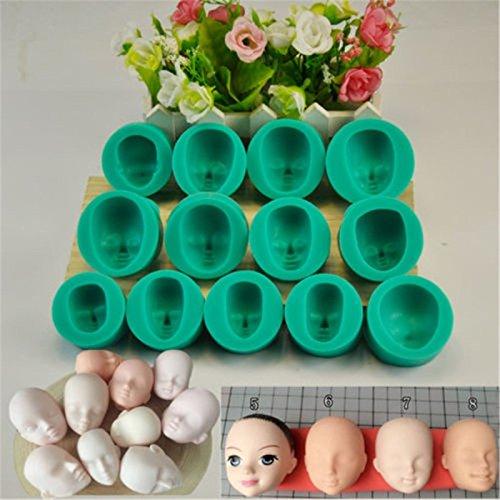 nikgic Baby cara–Molde antiadherente de chocolate Pudding molde para magdalenas Moldes para niños DIY Herramientas de mordaza (una a la venta)