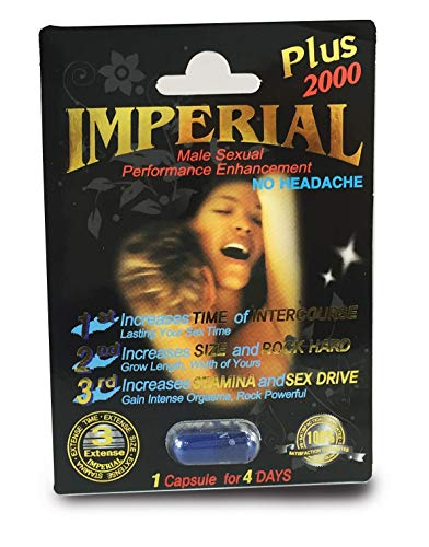 - (3) Imperial 2000mg Black Male Sexual Performance Enhancement Pill 3-PK