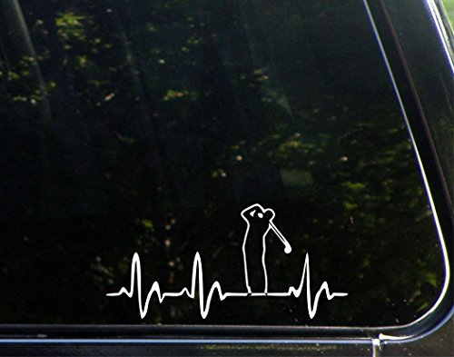 "Sweet Tea Decals Golf Lifeline - 7"" x 3 3/4"" - Vinyl Die Cut Decal/Bumper Sticker for Windows, Trucks, Cars, Laptops, Macbooks, Etc."