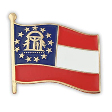 Amazon com: PinMart Georgia US State Flag GA Enamel Lapel