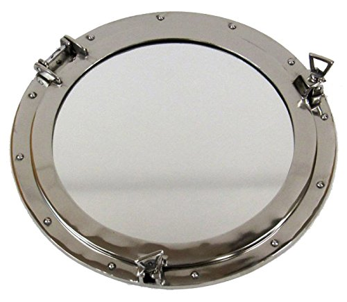 ion Aluminium Porthole Wall Decor with Mirror, 20