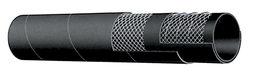 Kuriyama T202AA250X100 EPDM General Purpose Water S&D Hose, 150 PSI, 2 1/2'' ID, 2.950'' OD, 100', Black