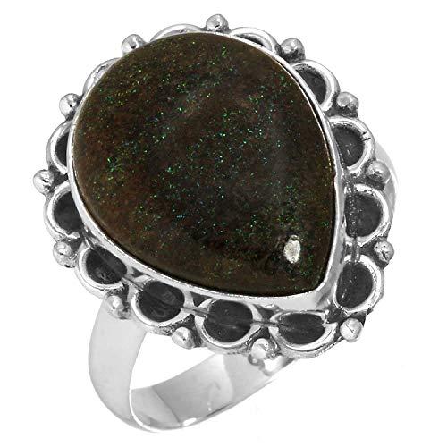 Natural Honduran Black Matrix Opal Gemstone Ring Solid 925 Sterling Silver Latest Jewelry Size 9.5