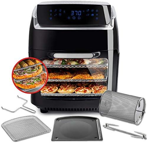 Aria Air Fryers AAO-890 Oven Air Fryer, 10Qt, Premium Black