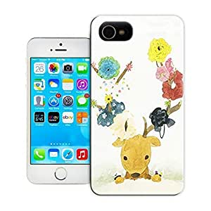 Cute antilope and beautiful flowers durable top iPhone 5C protective case cover for sale by LeTian fFk8ahkRSf4 case cover