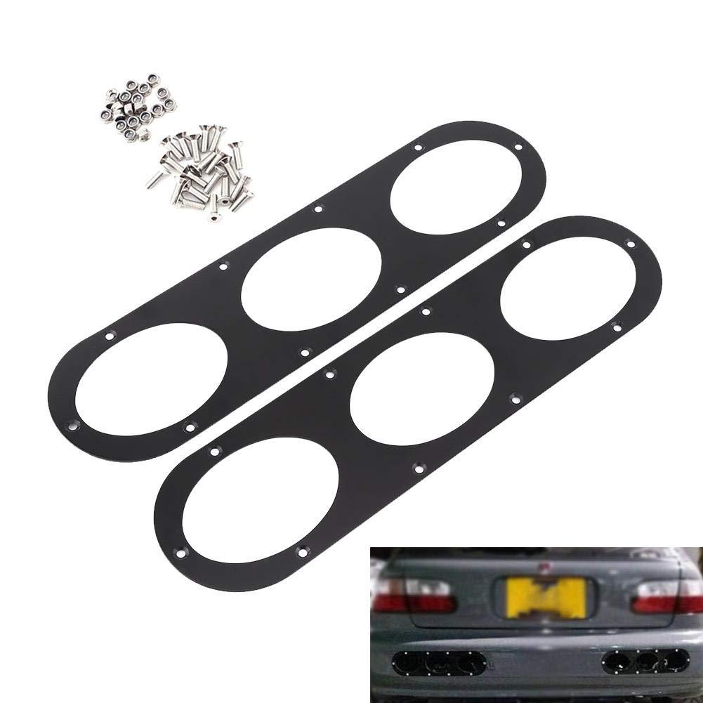 Fydun 2 pcs Universal Alliage Daluminium Arri/ère Pare-chocs Race Diffusion Dair Panneau De Diffuseur Car Styling