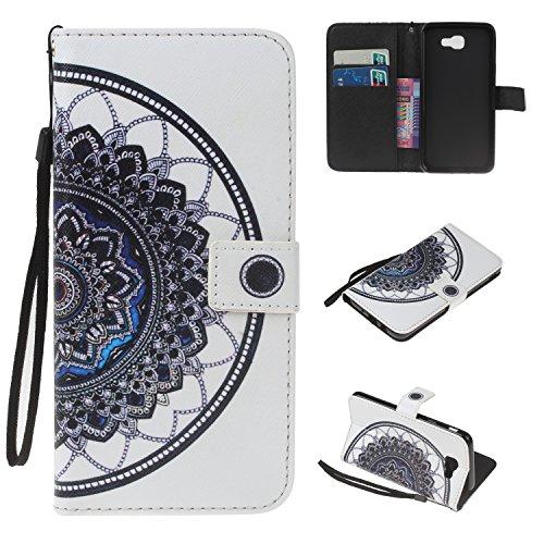 Para Samsung Galaxy J5 Prime/On5(2016) funda, (muchacha del globo) caja del teléfono de la PU patrón en relieve ,Función de Soporte Billetera con Tapa para Tarjetas correa de mano soporte para teléfon datura