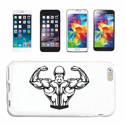 caja del teléfono iPhone 6S Bodybuilder CULTURISTA GYM PESO DE FORMACIÓN GYM muskelaufbau SUPLEMENTOS DE PESAS Caso duro de la cubierta Teléfono Cubiertas cubierta para el Apple iPhone en blanco