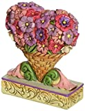 Enesco Jim Shore Heartwood Creek Mini Flower Heart Bouquet Figurine 3 in