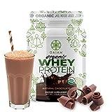 GAIAM Organic Whey Protein (Made in USA, USDA Organic Certified, 0g Sugar, 19g-20g Protein Per Serving) – 1lb Jar (Natural Chocolate)