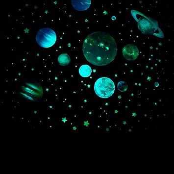 Zyclssrv Kinderzimmer Leuchtende Sticker Dekorative Wandtattoos