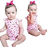 BOOMJIU Newborn Baby Girls Outfit Auntie Bodysuit Romper Headband+Donuts Long Pants Clothes Pink