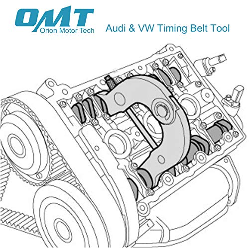 OrionMotorTech 6pc Camshaft Alignment Cam Shaft Timing Belt Tool Kit for 2000-2004 Audi A4 A6 with 3.0 V6 AVK Engines 00 01 02 03 04 - VW Polo Diesel - 1991-1994 Audi 100 C4 by OrionMotorTech (Image #1)