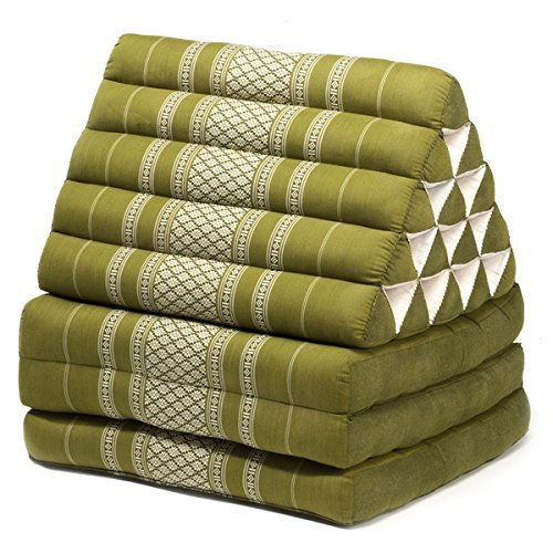 Thai style Triangle Yoga and Relaxation Lounger floor cushion Sage
