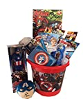 Marvel Avengers with Captain America 12'' Action Figure Ultimate Gift Basket - Perfect ideas for Birthdays, Easter, Christmas, Get Well, or Other Occasion!