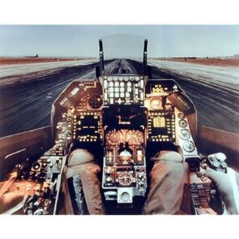 F-16 Cockpit Flight Deck Wall Decor Military Aviation Art Print Poster (16x20)