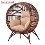 SQINAA Hanging Egg Hammock Chair Cushions Without Stand,Swing seat Cushion Thick nest Hanging Chair Back with Pillow-L