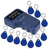 KKmoon Handheld 125KHz RFID ID Card Writer/Copier Duplicator + 10pcs Writable EM4305 Key Cards