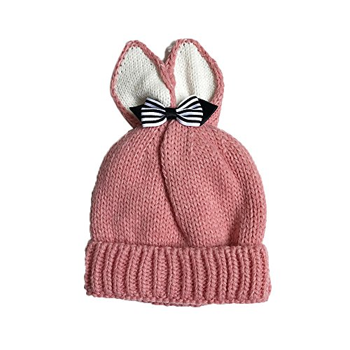 DongDong ♫2018 Baby's Knitted Hat, Butterfly Rabbit Ears