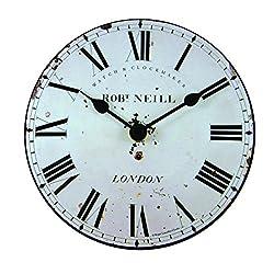 Roger Lascelles Clocks MINI/NEIL Wall Clock, Small, White