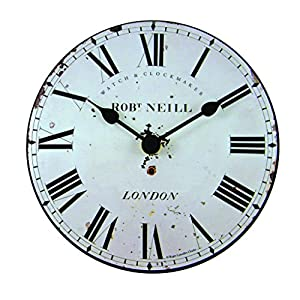Roger Lascelles Reloj, Madera, Off White, 15 x 4 x 15 cm 1