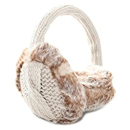 Aran Traditions Knitted Design Faux Fur Earmuffs