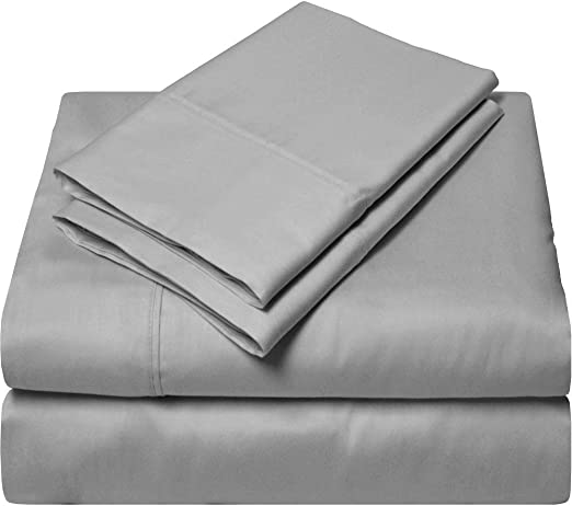 All Size** Egyptian Cotton 1000 TC Dark Grey Solid US Bedding Items