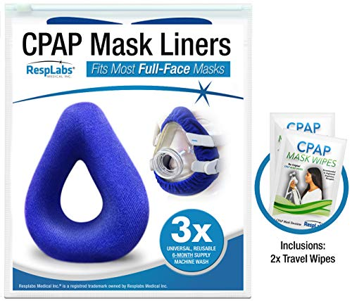 RespLabs Full Face CPAP Mask Liners - [3 Pack] Reusable, Universal, and Super Comfortable.