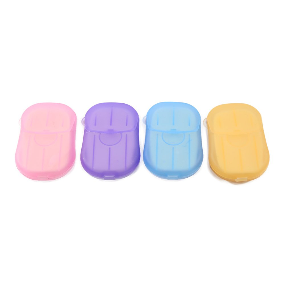 MSHIER 20Pcs Travel Portable Anti-Bacterial Clean Paper Soap Popularity Small Case