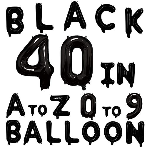 (40inch Black Letter Balloons Alphabet Balloons Helium Birthday Balloons Foil Mylar for Party Engagement Wedding Anniversary Graduation Bridal Shower Bachelorette of 2019 BALLOON (H Balloon) )