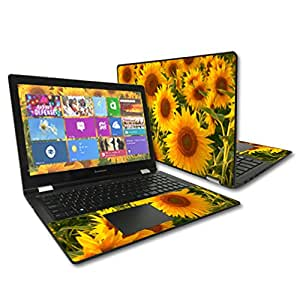 """MightySkins Protective Vinyl Skin Decal for Lenovo Flex 3 15"""" wrap cover sticker skins Sunflowers"""