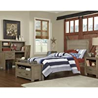 NE Kids Highlands Collection Alex Driftwood Panel Twin Bed