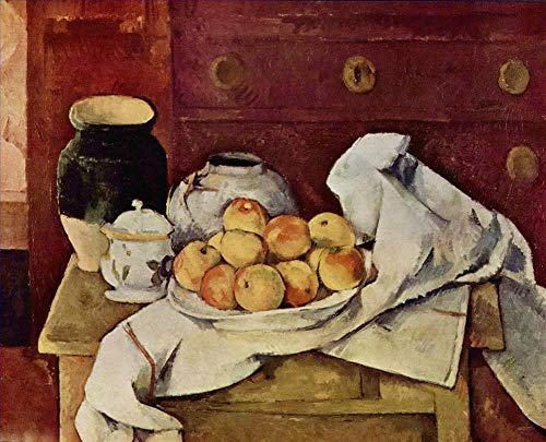 Hand Painted Six Drawer Chest - $50-$2000 Hand Painted Art Paintings by College Teachers - Still Life with a Chest of Drawers 1887 Paul Cezanne Oil Painting for Wall Art Decor -Size 10