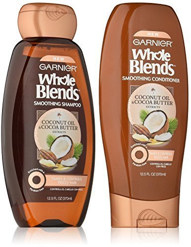 Garnier Whole Blends Coconut Cocoa Butter Shampoo and Conditioner 12 ounces each
