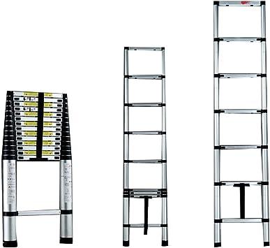 Extensibles Escalera telescópica - Escalera recta Escalera plegable Escalera de aluminio de ingeniería Escaleras retráctiles de elevación 3.2 m / 10.4 ft: Amazon.es: Bricolaje y herramientas