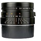 7artisans 35mm F2.0 Manual Focus Prime Fixed Lens for Leica M Mount M3 M6 M7 M8 M9 M240 M10 - Black