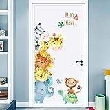 kids bedroom sticker wall murals Cartoon Animals Wall Stickers DIY Children Mural Decals for Kids Rooms Baby Bedroom Wardrobe Door Decoration (Animal)
