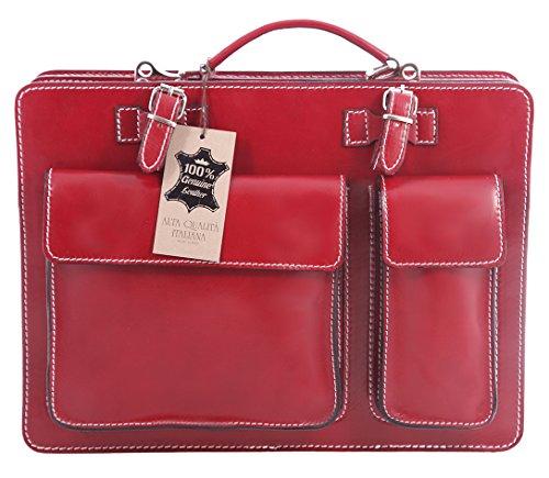Uomo Tutto Chicca Da Organizer Rosso Vera Made Pelle Moda Lavoro In Portadocumenti Italiana E Italy Valigetta Borsa 100 qtqgUdnBw
