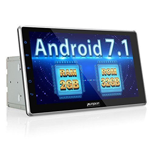 PUMPKIN 10.1 inch Android 7.1 Car Stereo Double Din with Android Auto, GPS and WiFi, Support Fastboot, Backup Camera, Touch Screen, OBD2, MirrorLink, USB SD