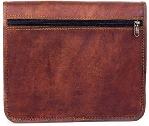 TUZECH Pure Leather Unisex Office Formal Travel Brown Laptop Messenger Bag Fits Laptop Upto 15.6 Inches