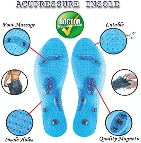 MindInsole Acupressure Magnetic Insoles for Foot/Feet Therapy, Reflexology Pain Relief, Massaging Insoles for Men & Women (Female)