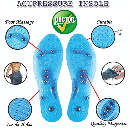 (MindInsole Acupressure Magnetic Insoles for Foot/Feet Therapy, Reflexology Pain Relief, Massaging Insoles for Men & Women (Female))