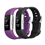 Bepack Band for Fitbit Charge 2 - Soft TPU Adjustable Replacement Sport Strap Band for Fitbit Charge 20 Smartwatch Heart Rate Fitness Wristband